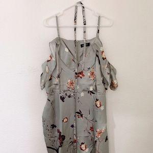 Floral Frill Overlap Dress